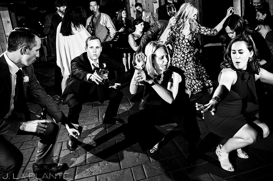 Wedding Reception Dance Party   Tenmile Station Wedding   Breckenridge Wedding Photographer   J. La Plante Photo