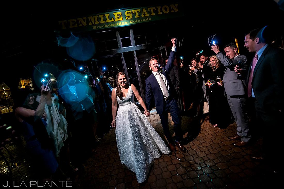 Bride and Groom Send Off   Tenmile Station Wedding   Breckenridge Wedding Photographer   J. La Plante Photo