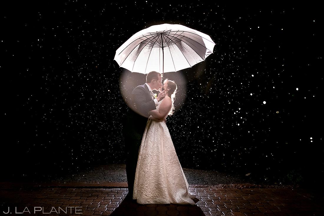 Bride and Groom in the Snow   Breckenridge Wedding   Breckenridge Wedding Photographer   J. La Plante Photo