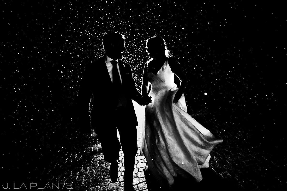 Bride and Groom in the Snow   Tenmile Station Wedding   Breckenridge Wedding Photographer   J. La Plante Photo