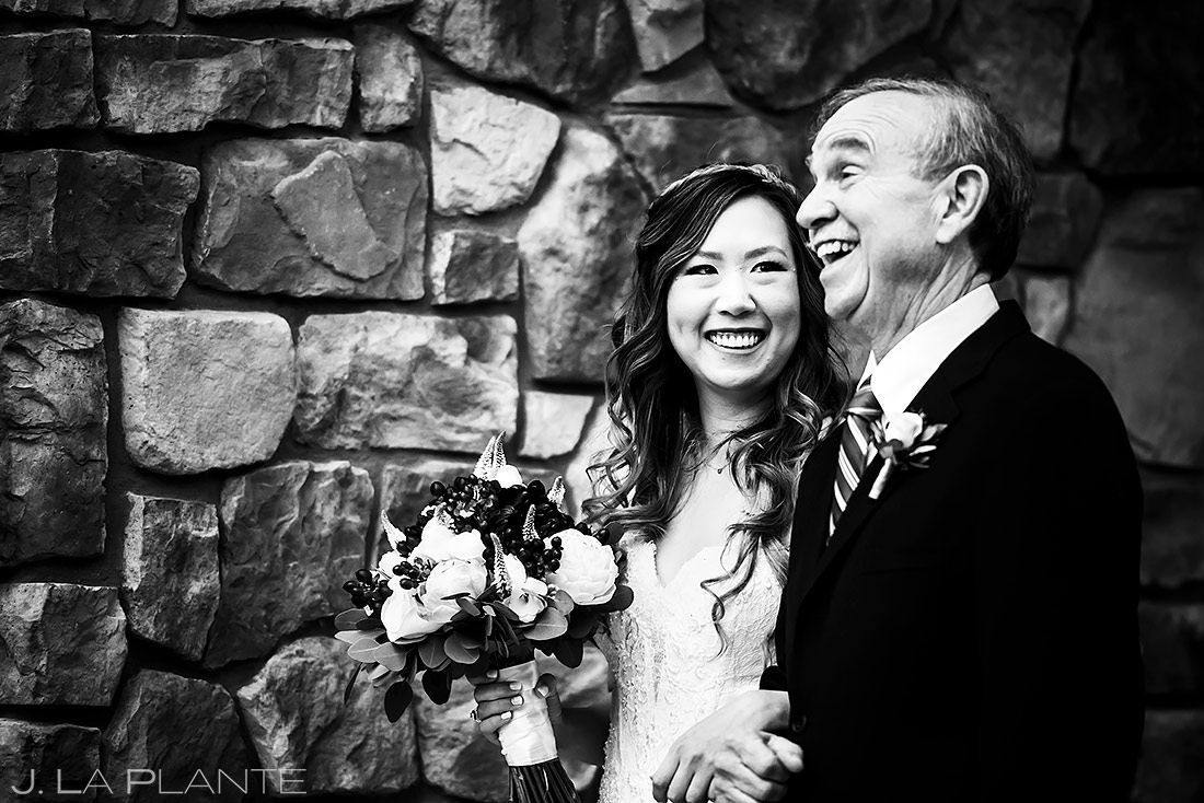 Father of the Bride | Black Canyon Inn Elopement | Estes Park Wedding Photographer | J. La Plante Photo