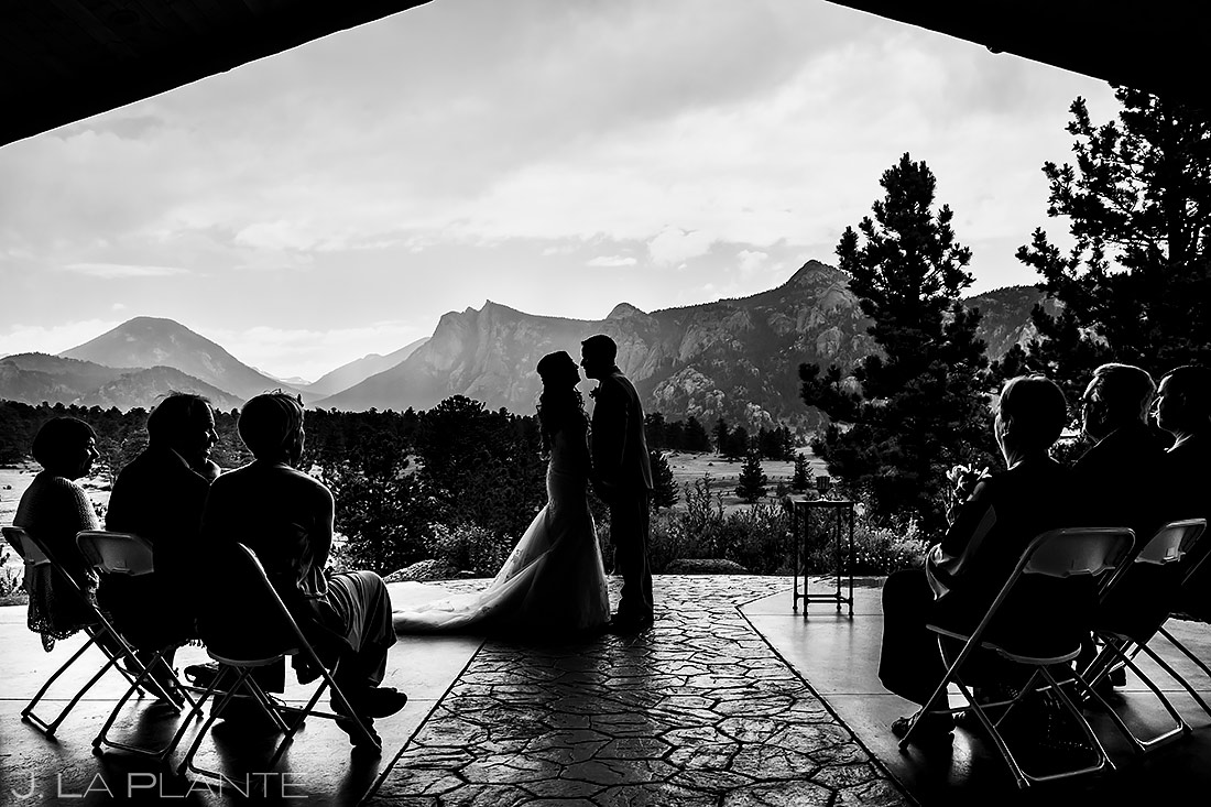 Mountain Wedding Ceremony | Black Canyon Inn Wedding | Estes Park Wedding Photographer | J. La Plante Photo