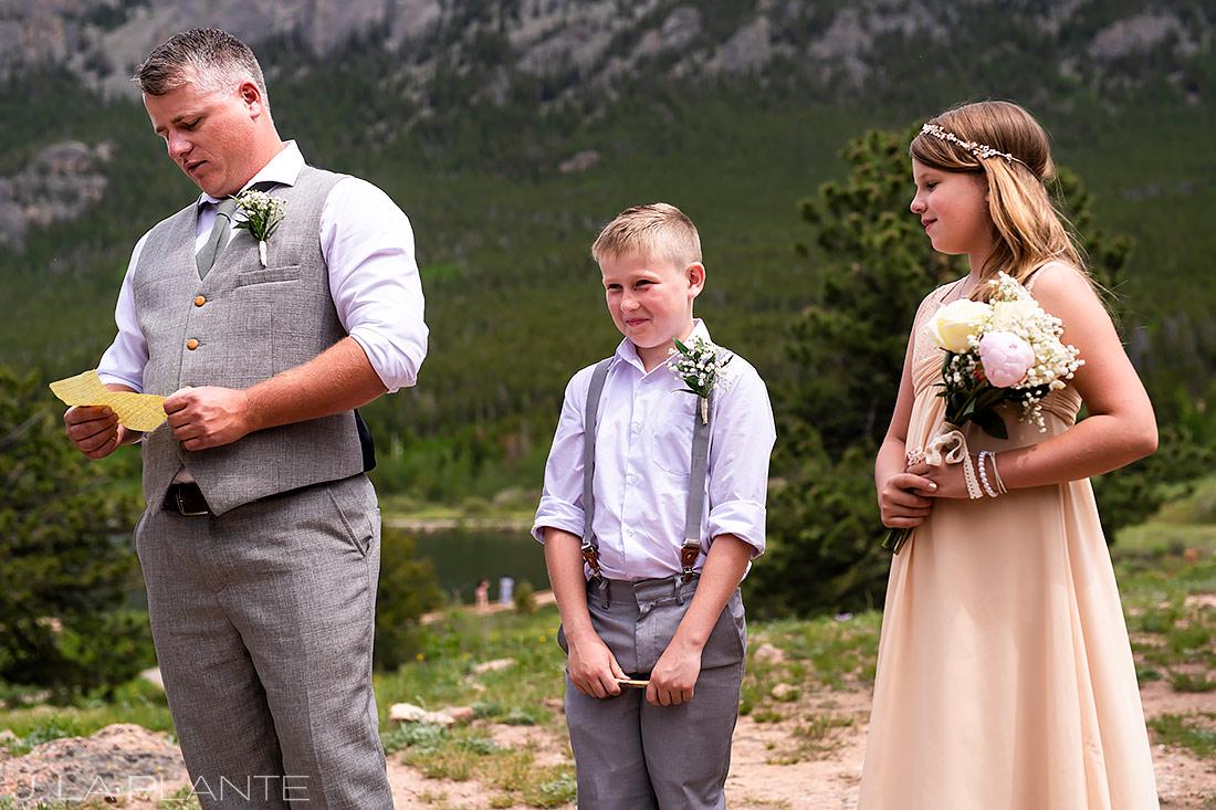 Mountain Wedding Ceremony | Rocky Mountain National Park Wedding | Estes Park Wedding Photographer | J. La Plante Photo
