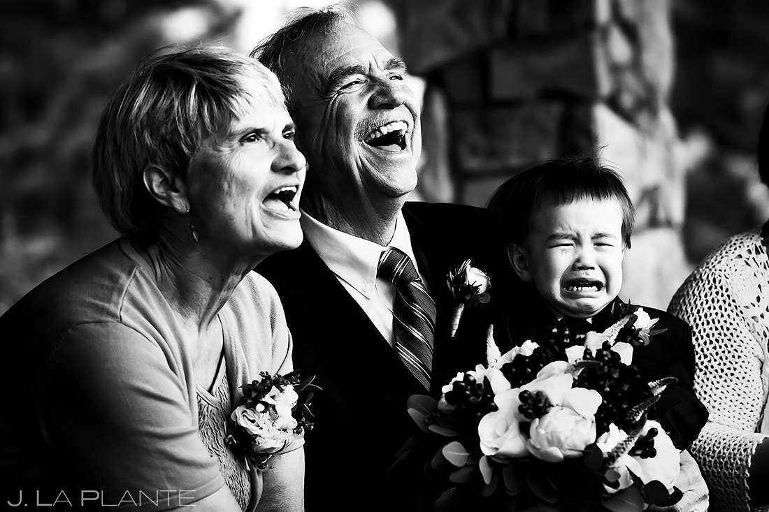 Parents of the Bride Laughing | Black Canyon Inn Elopement | Estes Park Wedding Photographer | J. La Plante Photo