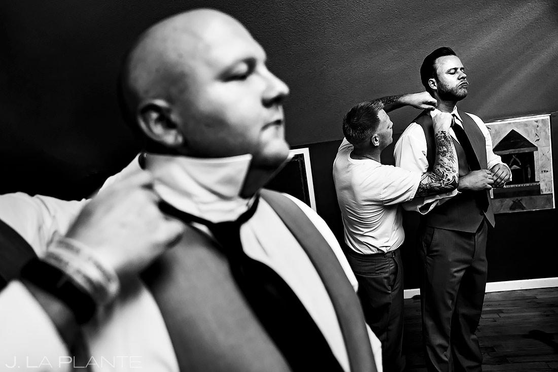 Groomsmen Getting Ready | Lionsgate Event Center Wedding | Boulder Wedding Photographer | J. La Plante Photo