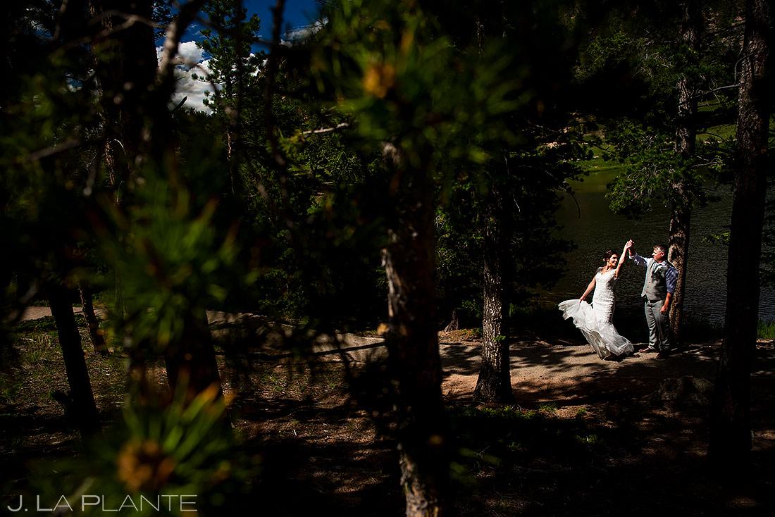 Bride and Groom Dancing | Rocky Mountain National Park Wedding | Estes Park Wedding Photographer | J. La Plante Photo