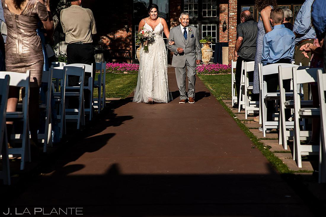 Bride Walking Down the Aisle | Lionsgate Event Center Wedding | Boulder Wedding Photographer | J. La Plante Photo