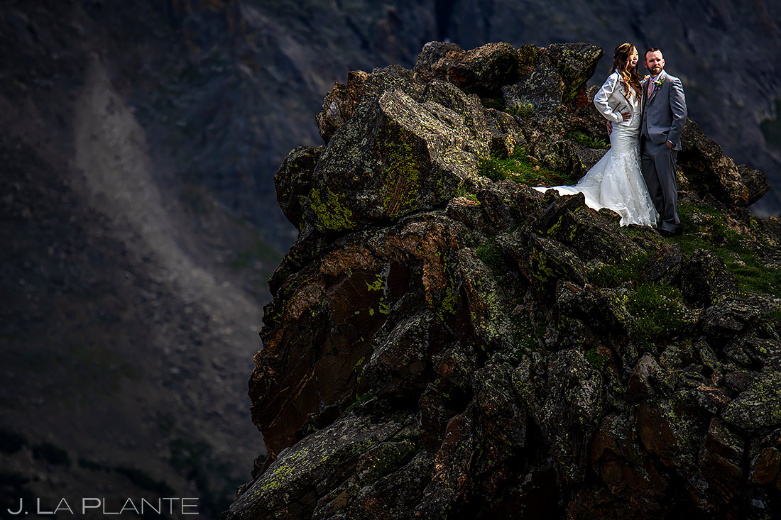 Bride and Groom in the Mountains | Rocky Mountain National Park Elopement | Estes Park Wedding Photographer | J. La Plante Photo