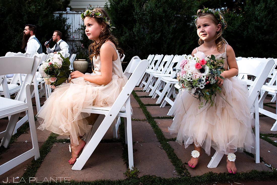 Cute Flower Girls | Lafayette Colorado Wedding | Boulder Wedding Photographer | J. La Plante Photo