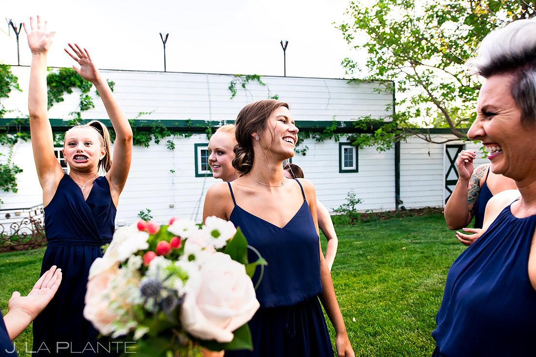 Boquet Toss | Lionsgate Event Center Wedding | Boulder Wedding Photographer | J. La Plante Photo