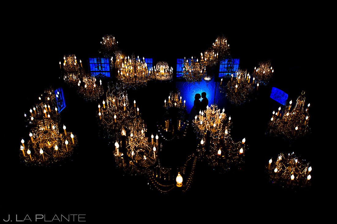 Bride and Groom Silhouette | Lionsgate Event Center Wedding | Boulder Wedding Photographer | J. La Plante Photo