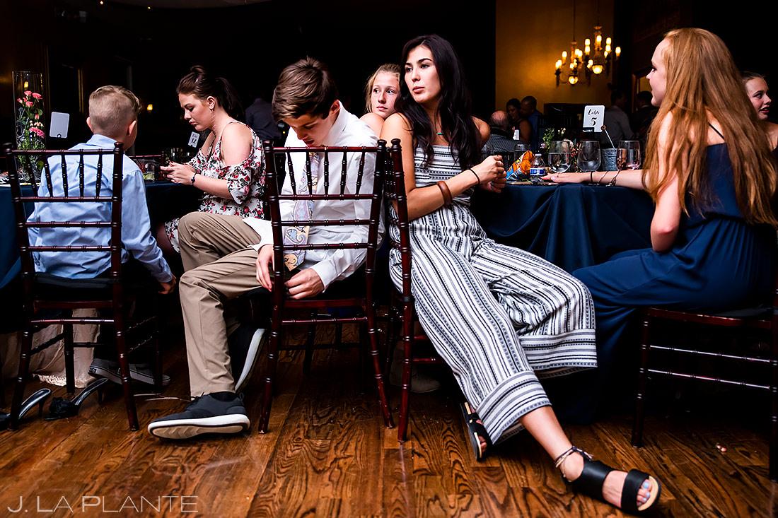 Wedding Guests Hanging Out | Lafayette Colorado Wedding | Boulder Wedding Photographer | J. La Plante Photo