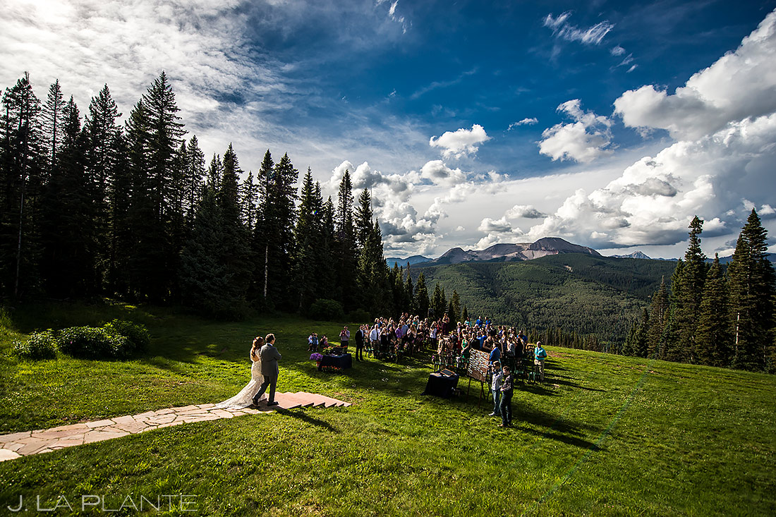 Wedding ceremony at Purgatory Resort   Best wedding venues in Colorado