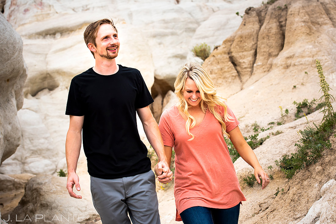 Hiking Engagement Session | Paint Mines Engagement Session | Colorado Springs Wedding Photographers | J. La Plante Photo