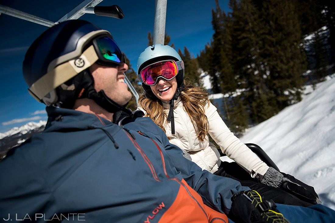 Skiing Engagement Session | Unique Engagement Pictures | Vail Wedding Photographer | J. La Plante Photo