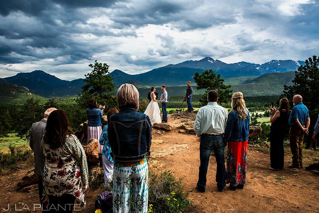 Rocky Mountain Wedding Ceremony | 3M Curve Wedding | Rocky Mountain National Park Wedding Photographer | J. La Plante Photo