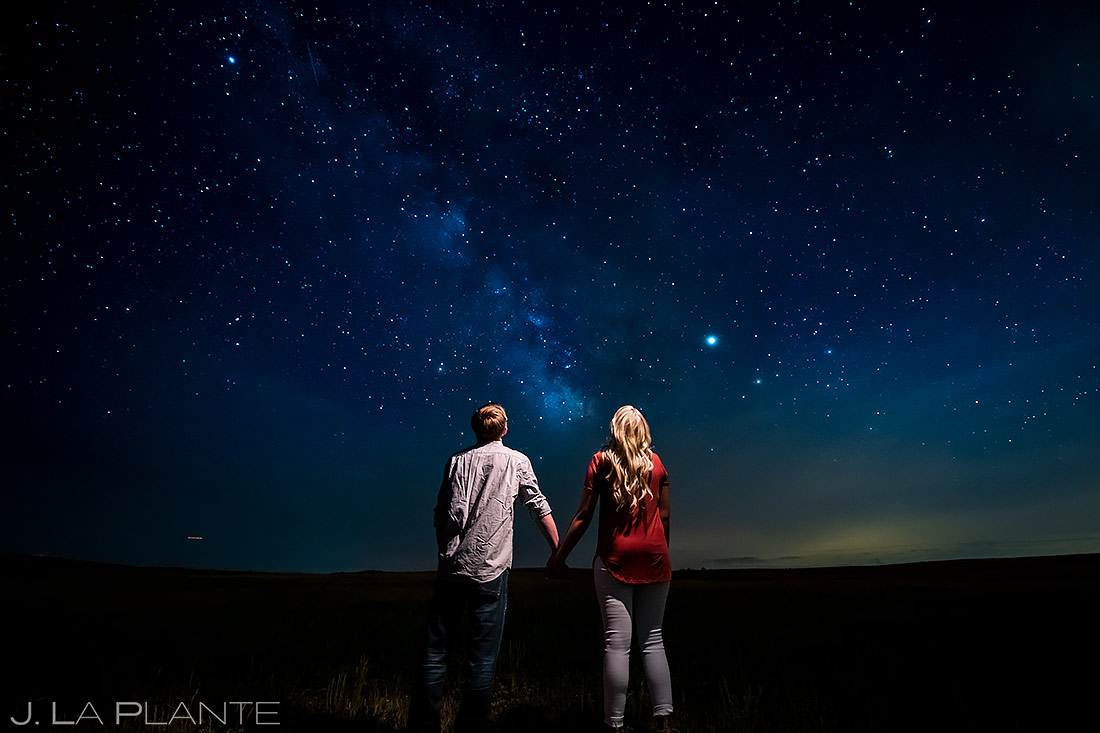 Starry Night Engagement Photo | Colorado Engagement Session | Colorado Springs Wedding Photographers | J. La Plante Photo