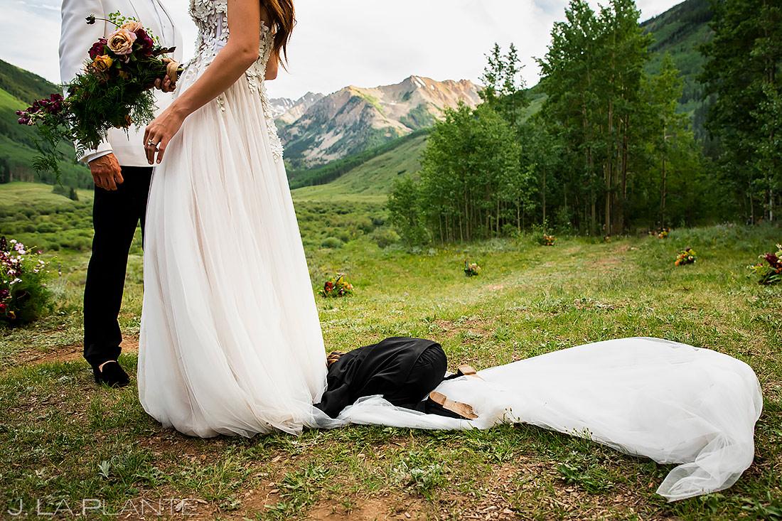 Funny Kids at Weddings | Pine Creek Cookhouse Wedding | Aspen Wedding Photographer | J. La Plante Photo