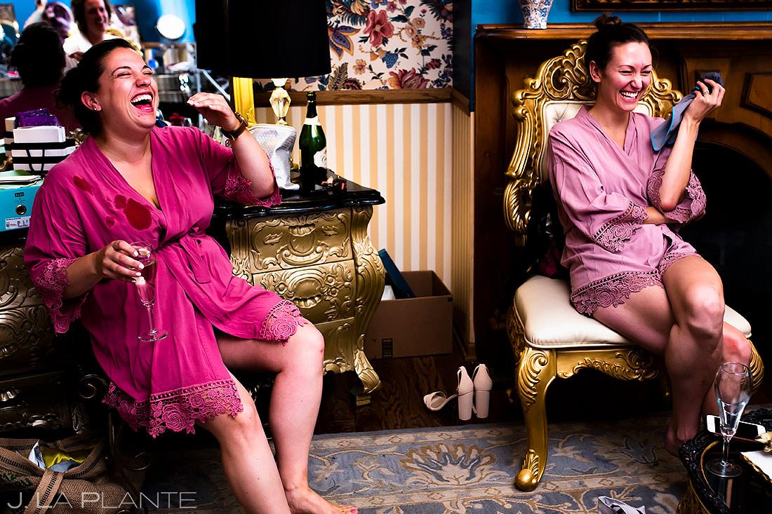 Bridesmaids Getting Ready | Boulder Photographer | J. La Plante Photo