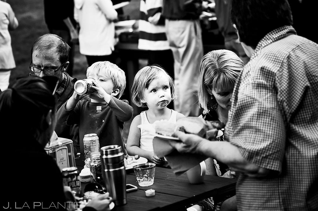 Funny Wedding Kids | Forest Lake Camp Wedding | Kick-ass Wedding Photographers | J. La Plante Photo