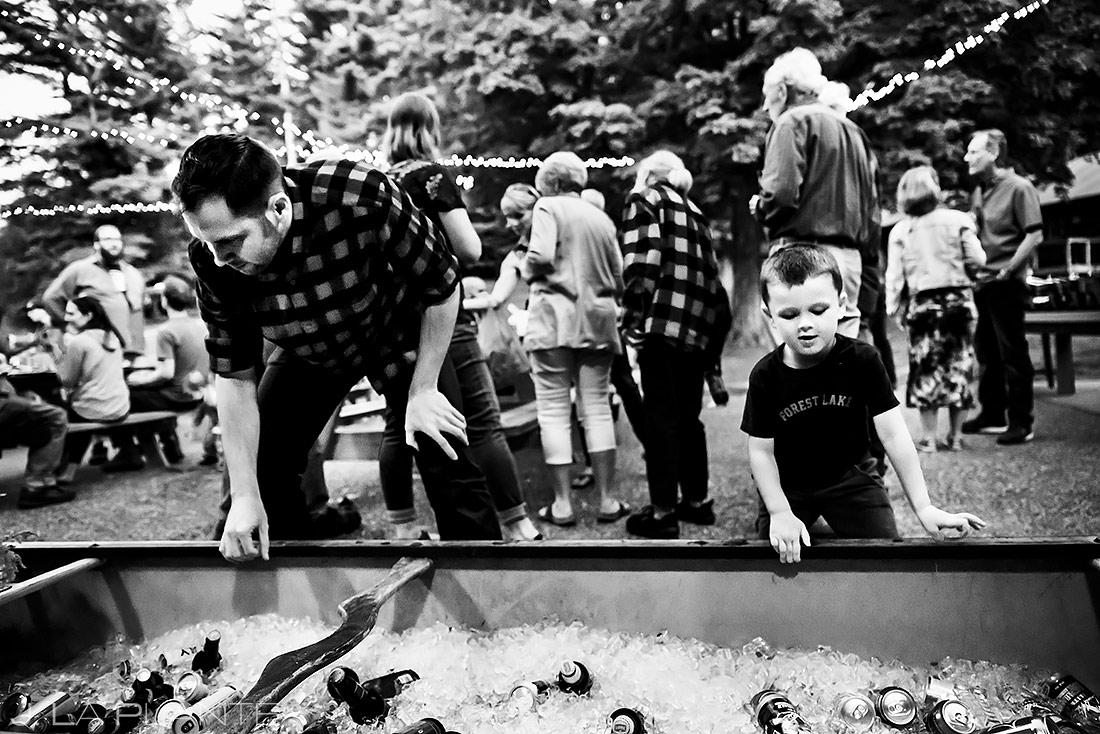 Canoe Beer Cooler | Forest Lake Camp Wedding | Kick-ass Wedding Photographers | J. La Plante Photo