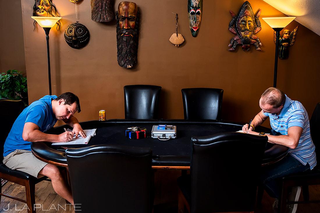 Groom Writing Vows | Boulder Photographer | J. La Plante Photo