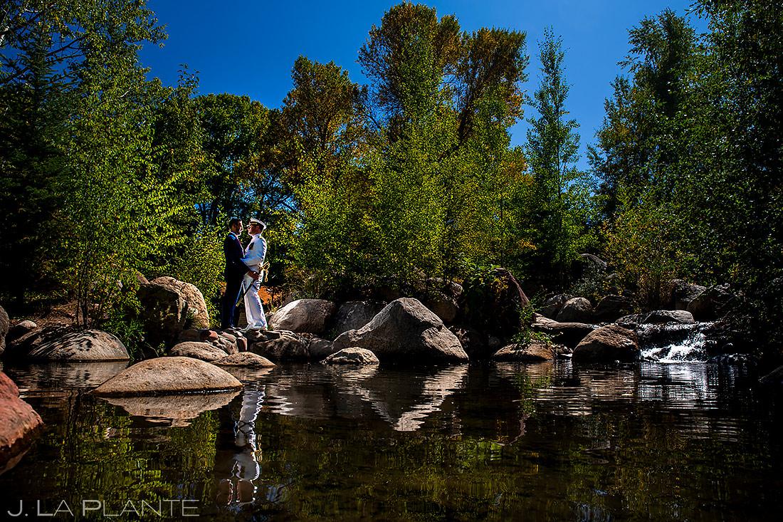 Groom and Groom Portrait | Aspen Meadows Resort Wedding | Aspen Wedding Photographer | J. La Plante Photo