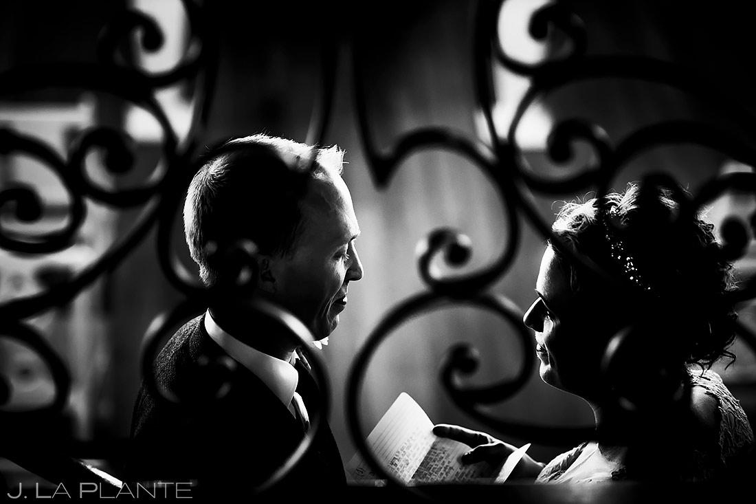 Bride and Groom Private Vows | Lionsgate Wedding | Boulder Wedding Photographer | J. La Plante Photo