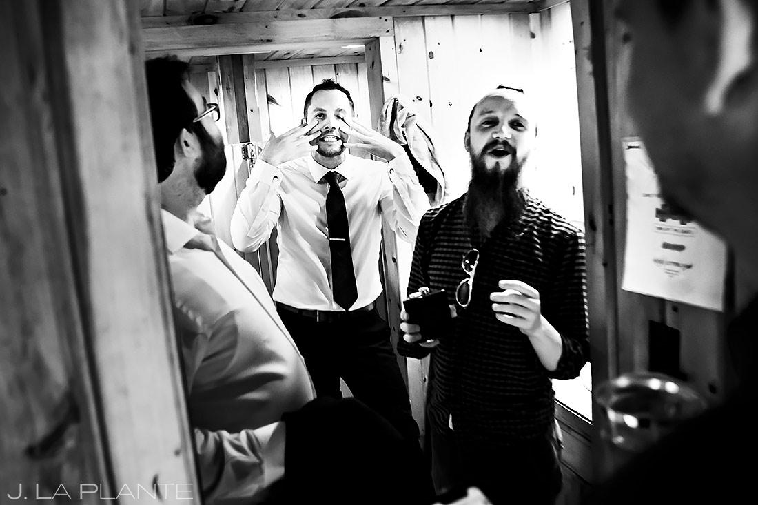 Groom Getting Ready | Forest Lake Camp Wedding | Kick-ass Wedding Photographers | J. La Plante Photo