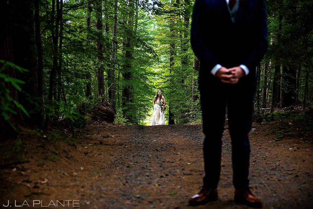 Bride and Groom First Look | New York Destination Wedding | Destination Wedding Photographers | J. La Plante Photo