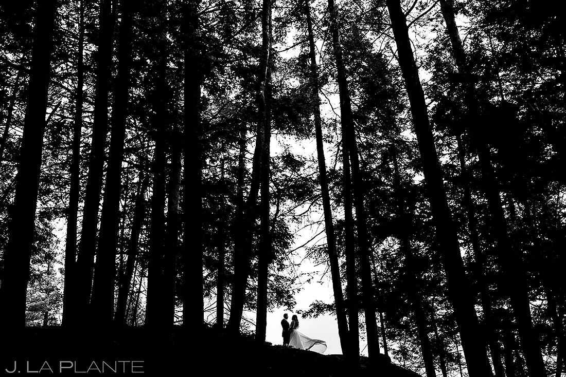 Cool Bride and Groom Portrait | Forest Lake Camp Wedding | Kick-ass Wedding Photographers | J. La Plante Photo