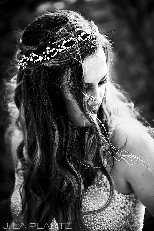 Black and White Bride Portrait | New York Destination Wedding | Destination Wedding Photographers | J. La Plante Photo