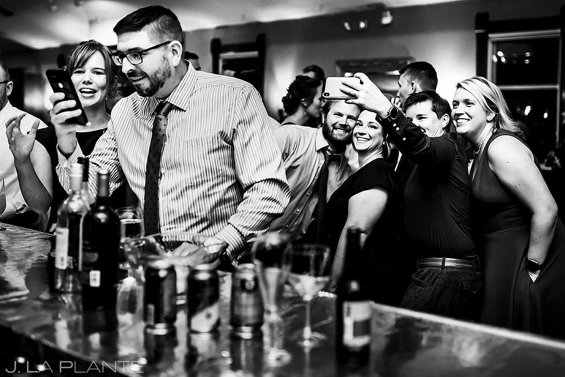 Wedding Guests Taking Selfies | Lionsgate Wedding | Boulder Wedding Photographer | J. La Plante Photo