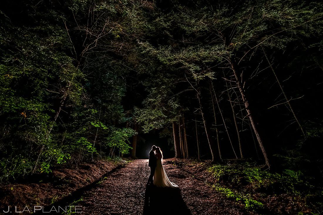 Bride and Groom Nighttime Photo | New York Destination Wedding | Destination Wedding Photographers | J. La Plante Photo