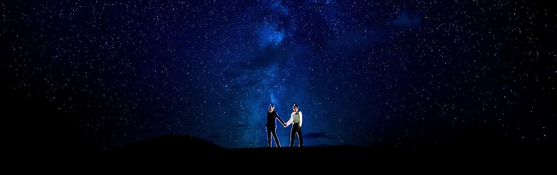 Groom and Groom Under the Stars | Aspen Meadows Resort Wedding | Aspen Wedding Photographer | J. La Plante Photo