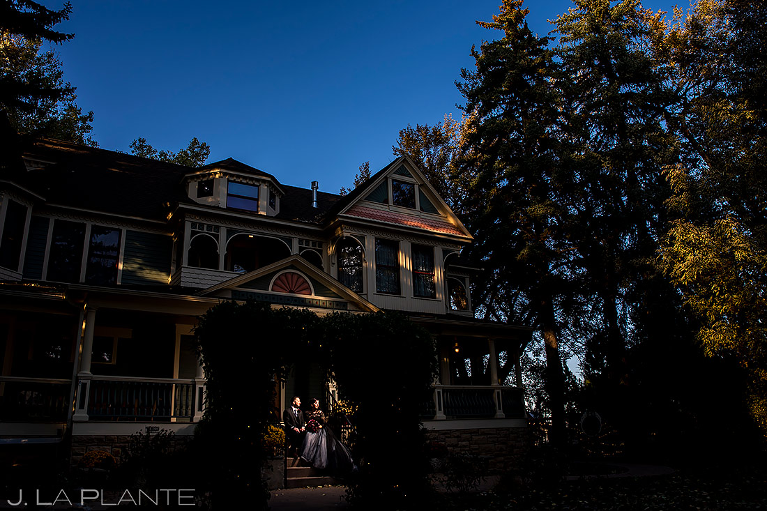 unique portrait of bride and groom | Tapestry House wedding | Fort Collins wedding photographer | J. La Plante Photo