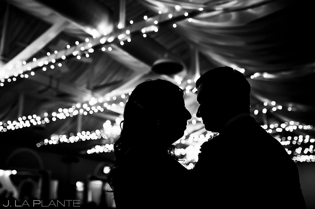 bride and groom silhouettes | Fort Collins wedding photographer | J. La Plante Photo