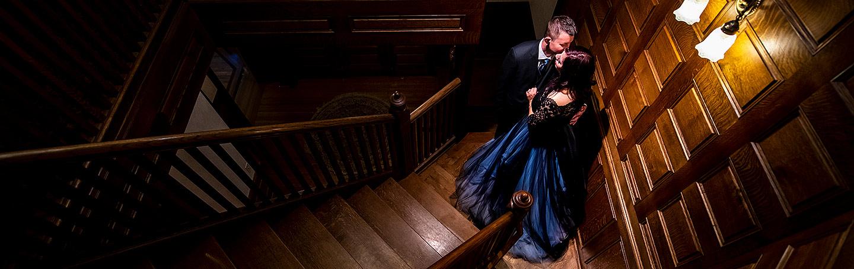 Unique Bride and Groom Portrait | Tapestry House Wedding | Fort Collins Wedding Photographer | J. La Plante Photo