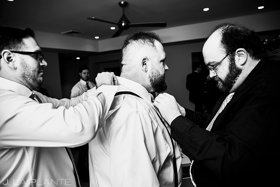 Groom Getting Ready | Denver Wedding | Denver Wedding Photographer | J. La Plante Photo