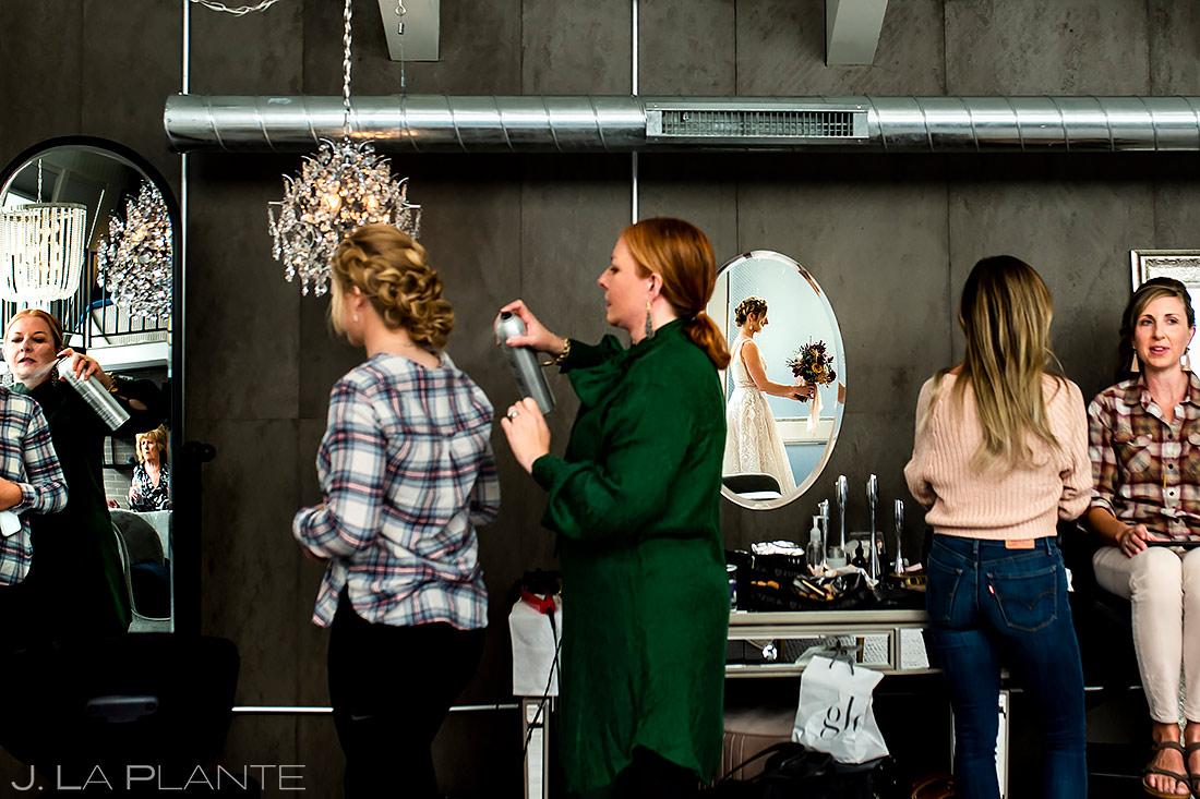 Bridesmaids getting ready | Downtown Denver Wedding | Denver Wedding Photographer | J. La Plante Photo