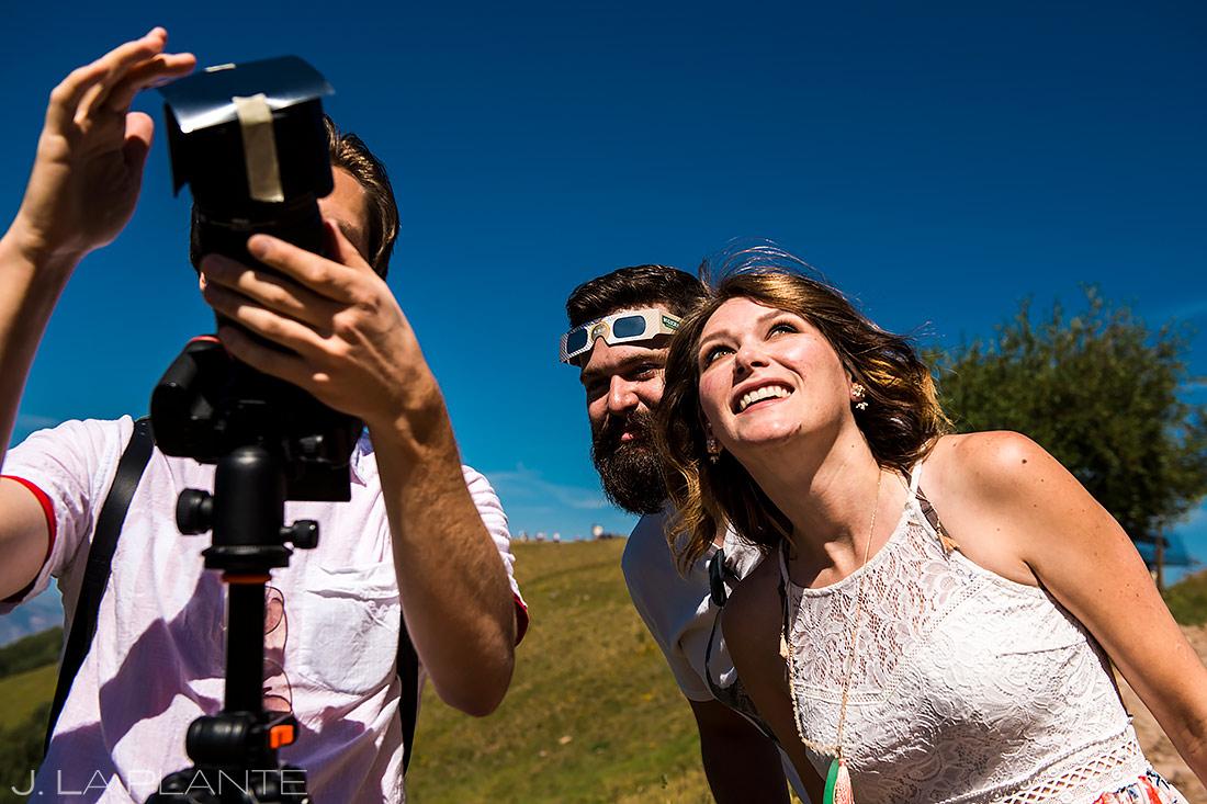 Wedding Photographers at Work | Solar Eclipse Engagement | Vail Engagement | Vail Wedding Photographer | J. La Plante Photo