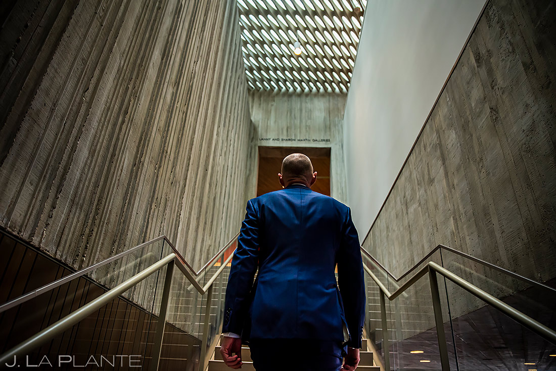 Groom going to first look | Downtown Denver Wedding | Denver Wedding Photographer | J. La Plante Photo