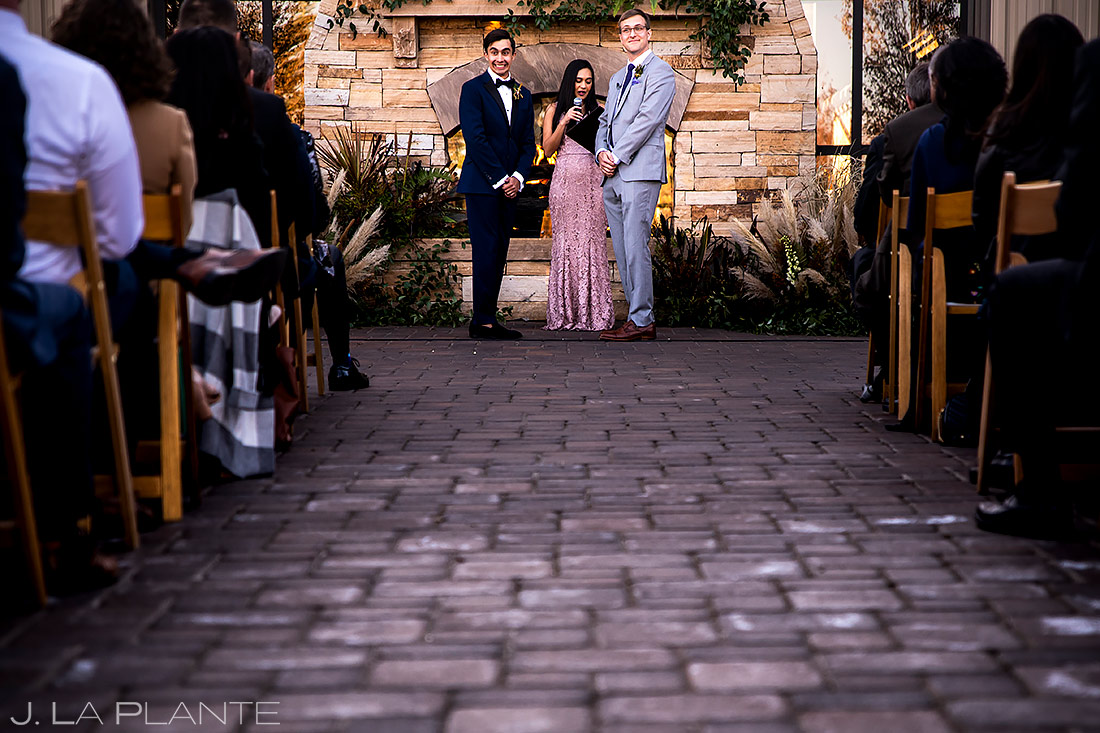 Wedding ceremony | Spruce Mountain Ranch Wedding | Denver Indian Wedding Photographer | J. La Plante Photo