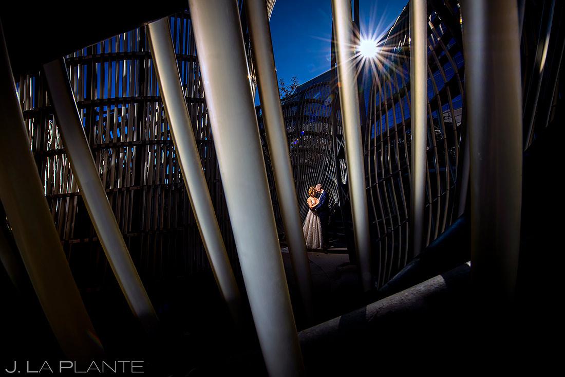 Unique wedding portrait | Downtown Denver Wedding | Denver Wedding Photographer | J. La Plante Photo