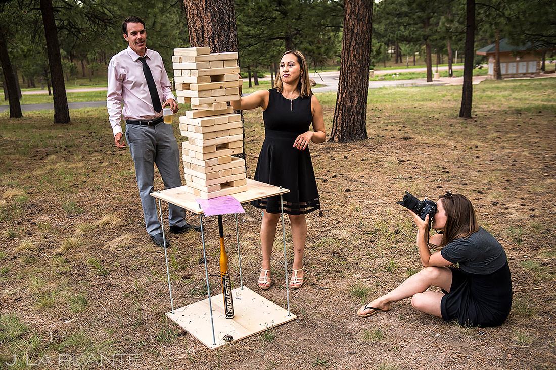 Wedding Photographers at Work | Lodge at Cathedral Pines Wedding | Colorado Springs Wedding Photographer | J. La Plante Photo
