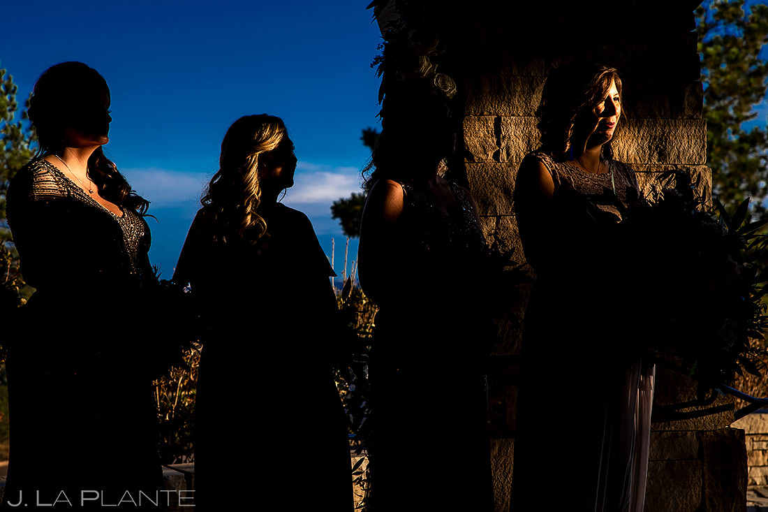 Bridesmaids at Ceremony | Sanctuary Golf Course Wedding | Denver Wedding Photographer | J. La Plante Photo