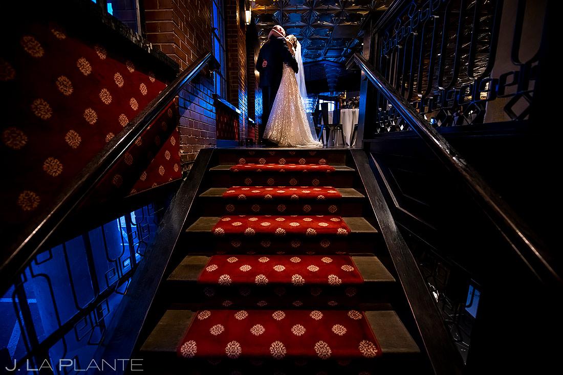 Newlywed hugs | Ironworks Wedding | Denver Wedding Photographer | J. La Plante Photo