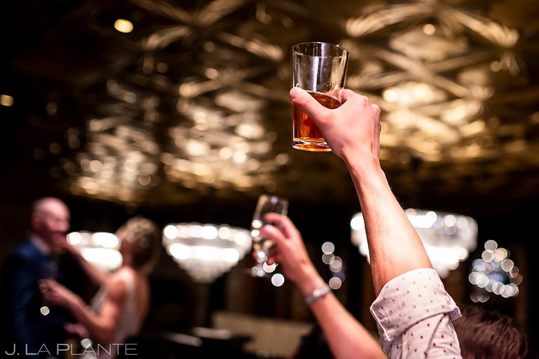 Wedding toasts | Ironworks Wedding | Denver Wedding Photographer | J. La Plante Photo