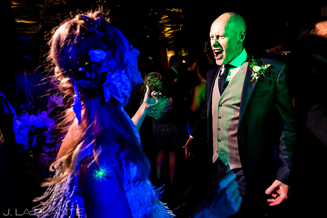 Bride and groom on dance floor | Ironworks Wedding | Denver Wedding Photographer | J. La Plante Photo