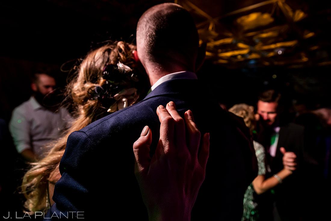 Bride and groom on dance floor | Denver Wedding Photographer | J. La Plante Photo